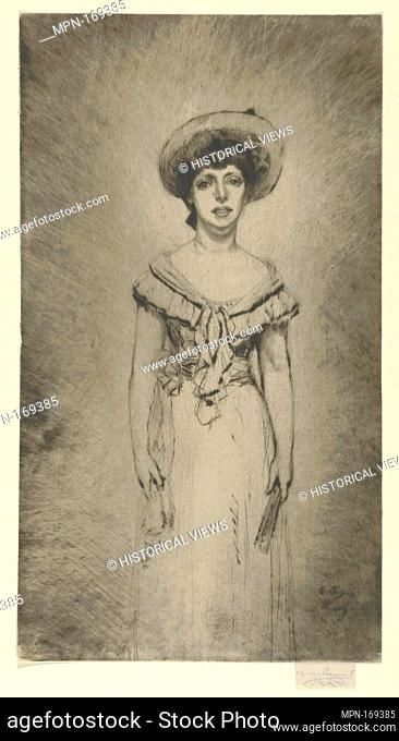 Portrait of Miss Hetty Pettigrew. Artist and engraver: Théodore Roussel (French, Lorient, Brittany 1847-1926 St. Leonards-on-Sea