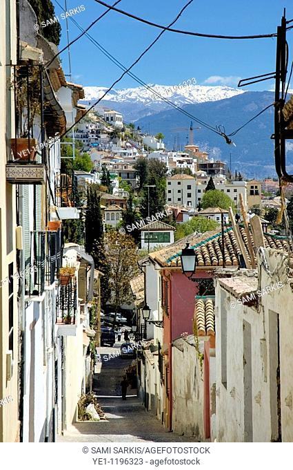 Historic Jewish district the Realejo in Granada, Andalusia, Spain