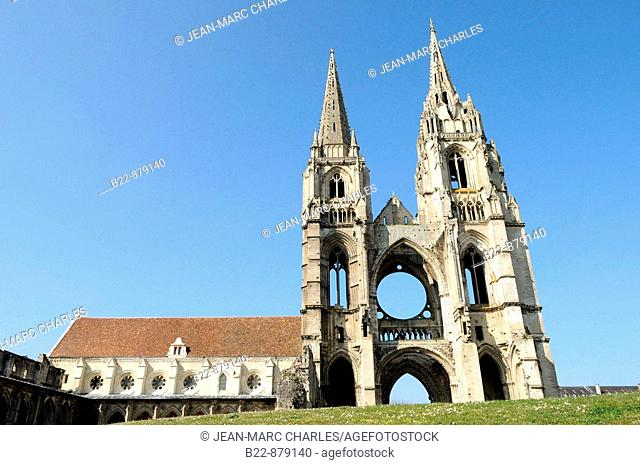 Abbey of St. Jean des Vignes, Soissons. Aisne, Picardy, France