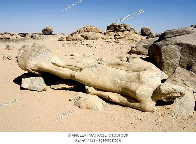 Statue of pharaoh Taharqa, Nubia, Sudan