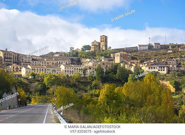 Overview. Sepulveda, Segovia province, Castilla Leon, Spain