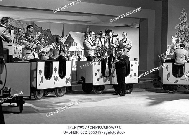 Der goldene Schuss, Spielshow, Deutschland 1968, Moderation: Vico Torriani, Orchester Max Greger, 24x36swNeg242