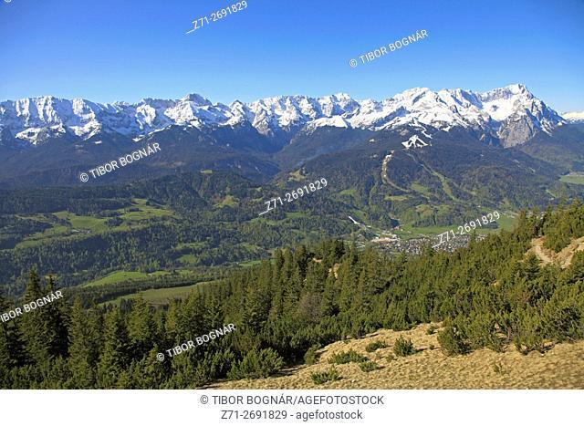Germany, Bavaria, Alps, Garmisch-Partenkirchen, Zugspitze,