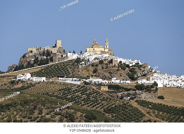 Olvera, one of white towns of Andalusia, Spain