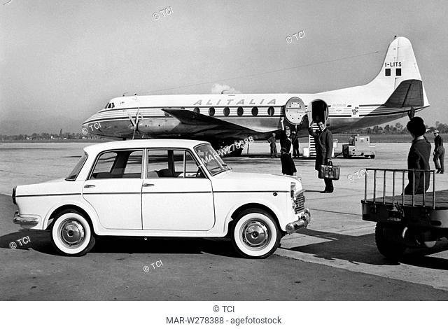fiat 1100 special in aeroporto, 1962
