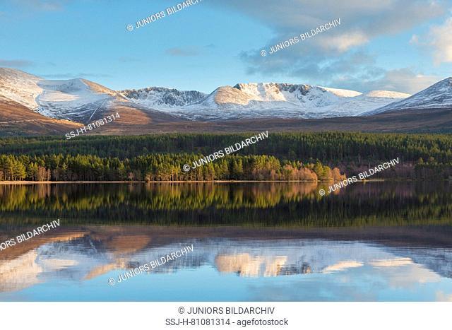 Loch Morlich. Cairngorms National Park, Scotland, Great Britain