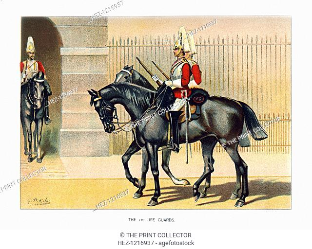'The 1st Life Guards', c1890. A coloured lithographic plate from Her Majesty's Army by Walter Richards, JS Virtue & Company, (London, c1890)