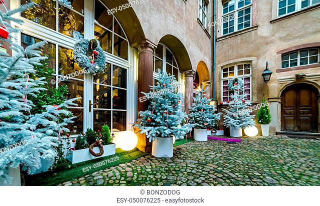 Outdoor Christmas decoration in Strasbourg, Alsace, France