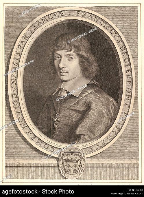 François de Clermont-Tonnerre. Artist: Robert Nanteuil (French, Reims 1623-1678 Paris); Date: ca. 1655; Medium: Engraving; fourth state of four (Petitjean &...
