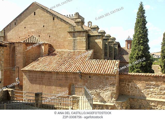 Ex collegiate church, Mora de Rubielos village, Teruel, Spain