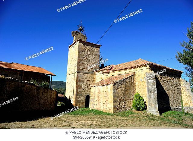 Chapel of La Soledad in Valdeavellano de Tera, Soria, Spain