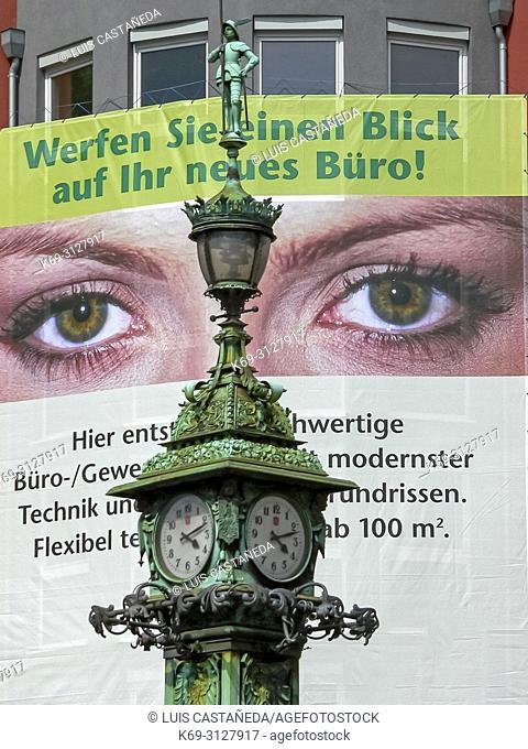 Advertising. Frankfurt am Main. Germany