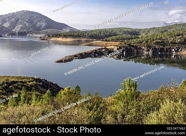 Calm at Atazar reservoir. Madrid. Spain. Europe