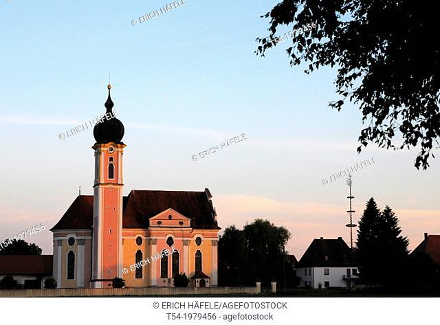 Baroque church in Pless / Bavaria