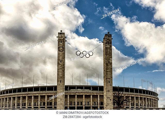 Berlin,Germany,The Olimpia Stadion (Olimpic Stadium) ,exterior