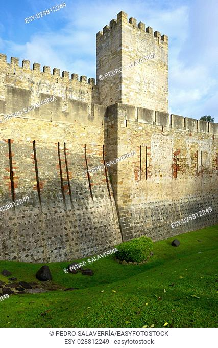 Castle of San Jorge in Lisbon, Portugal
