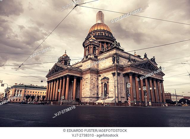 St Isaac cathedral in Saint Petersburg (Russia)