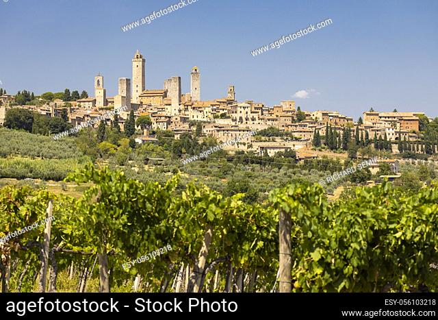 San Gimignano, UNESCO site, Tuscany, Italy