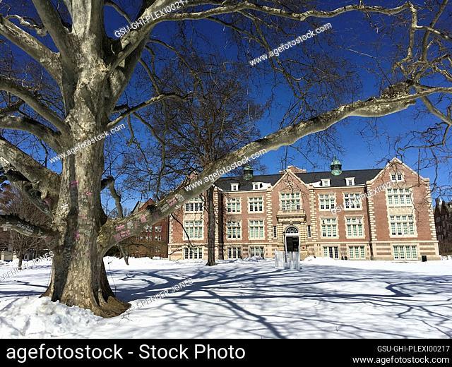Rockefeller Hall on Snowy Day, Vassar College, Poughkeepsie, New York, USA