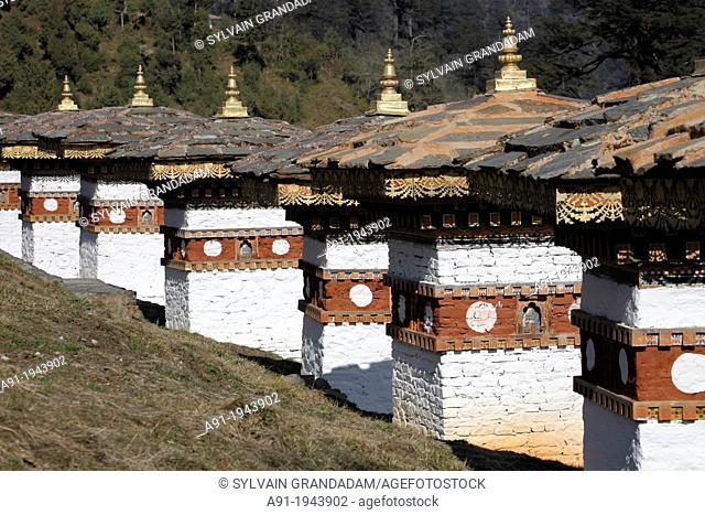 Bhutan (kingdom of), the troad from Thimphu to Punakha trough Dochu-la pass (3000 m)