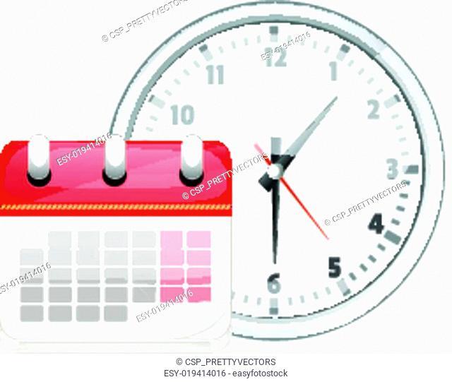 Cartoon Vector White Clock