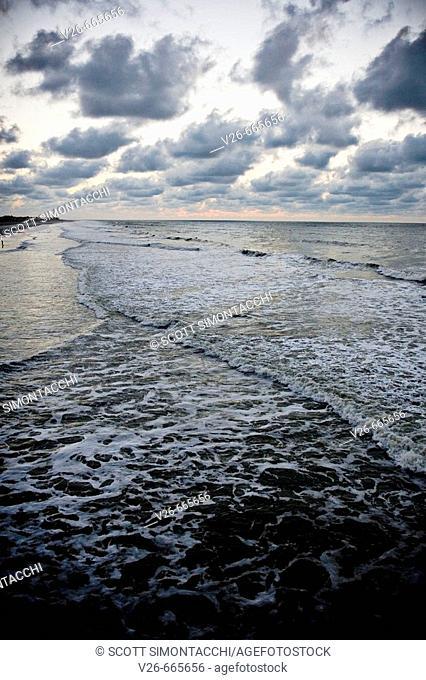 Folly Beach in Charleston, South Carolina, USA