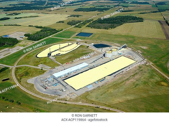 Shell sulphur loading facility, Shantz, Alberta, Canada