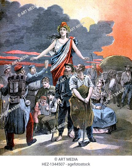 'Let us speak about another thing!', 1893. A print from the Le Petit Journal, 8th April 1893