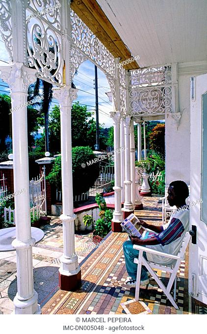 Jamaica, Port Antonio, colonial style house