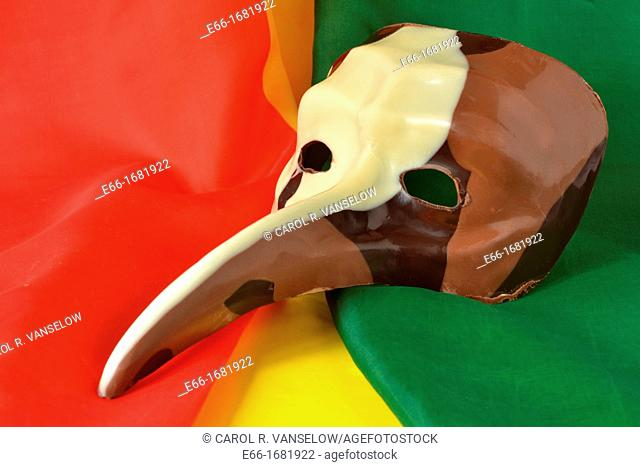 Carnivale masks made from chocolate are available from Patisserie Royale in Maastricht