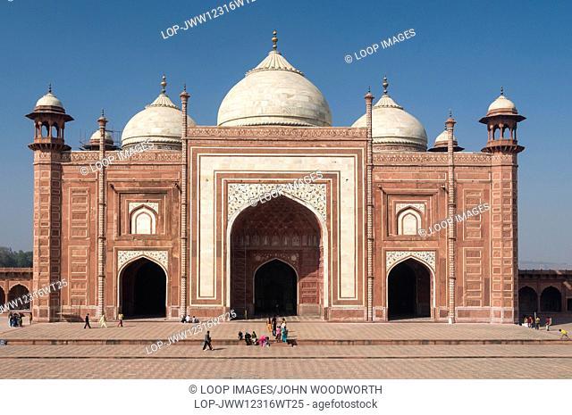 Agra mosque in the Taj Mahal complex