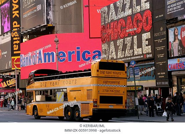 Broadway 7, bus for tour  , New York City, United States, America