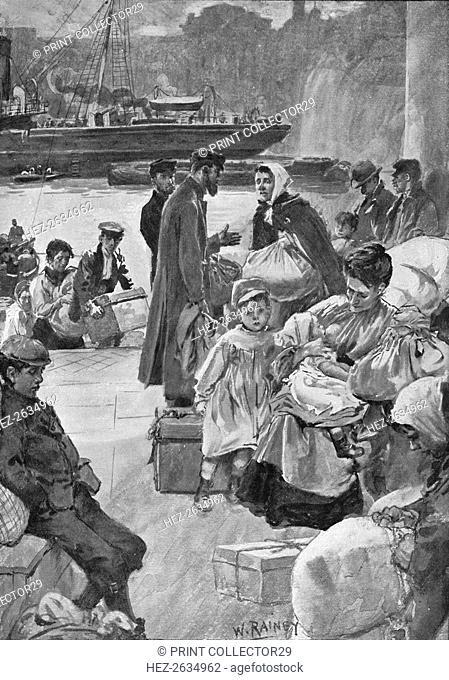 'Aliens Arriving at Irongate Stairs', c1901 (1901). Artist: William Rainey