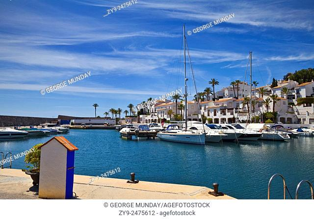 The Marina at Puerto Deportivo Marina del Este,. Near Almuñéca, Costa Tropical,. Granada Province, Spain