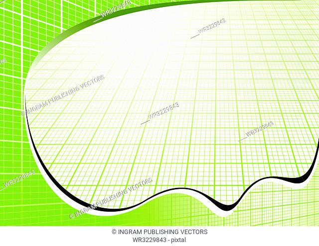 Business inspired background with grids in green and white