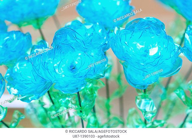 Flowers Made From Plastic Bottles Recycled Platic