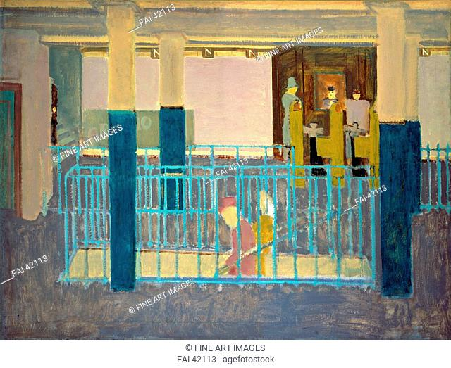 Entrance to Subway (Subway Scene) by Rothko, Mark (1903-1970)/Oil on canvas/Abstract expressionism/1938/The United States/National Gallery of Art