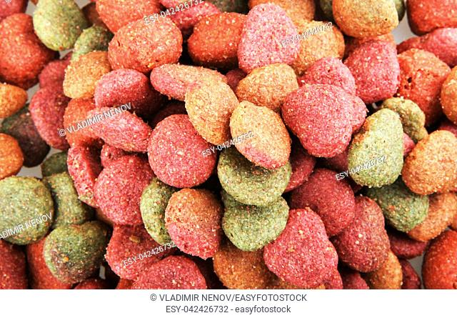 Dried pet food background