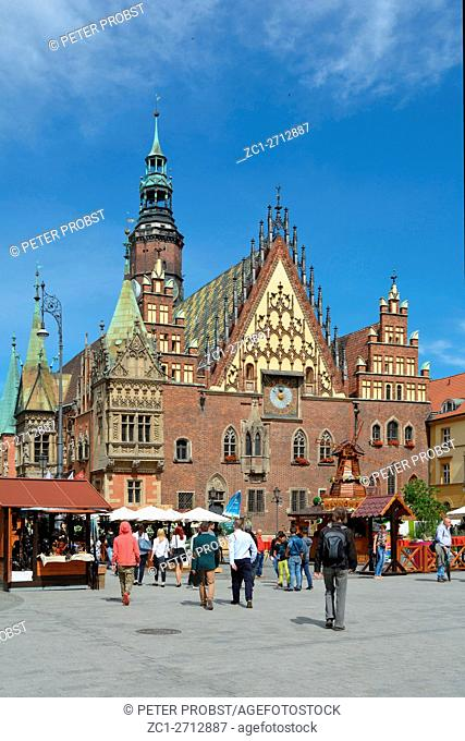 Old Town Hall on Market Square in the Old Town of Wroclaw - Poland