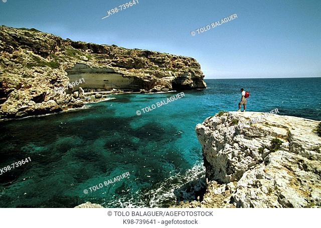 Cala Figuereta, Santanyi. Majorca, Balearic Islands, Spain