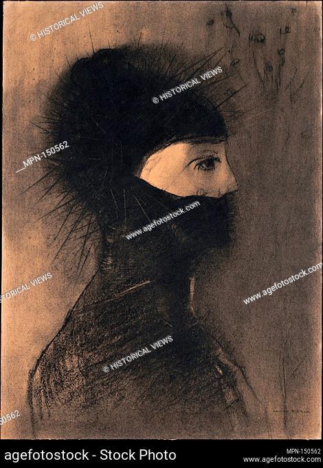 Armor. Artist: Odilon Redon (French, Bordeaux 1840-1916 Paris); Date: 1891; Medium: Charcoal and conté crayon; Dimensions: 20 x 14 1/2 in. (50.7 x 36