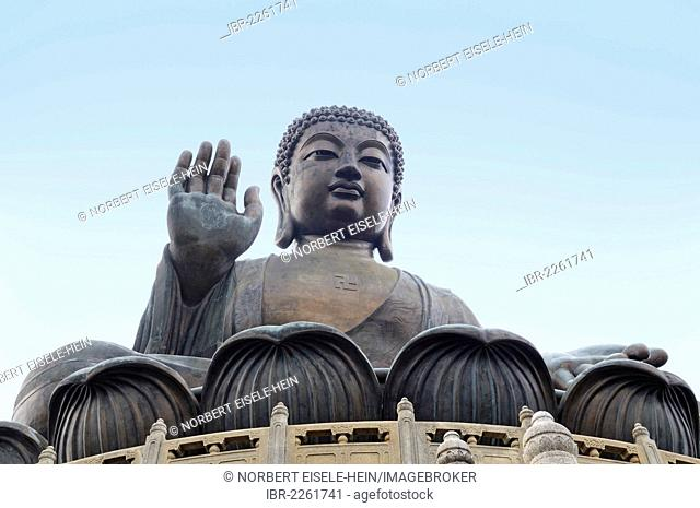 Big Buddha statue, Po Lin Monastery, Lantau Island, Hong Kong, China, Asia