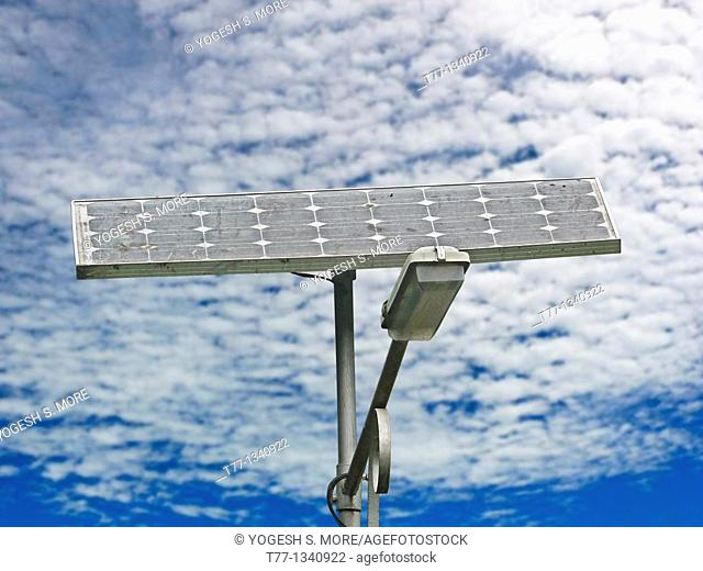 Street Light and solar pannel
