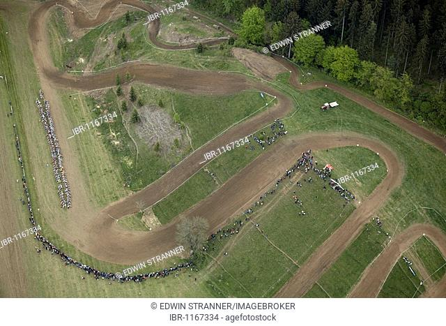 Motocross track near St. Donat, Carinthia, Austria, Europe