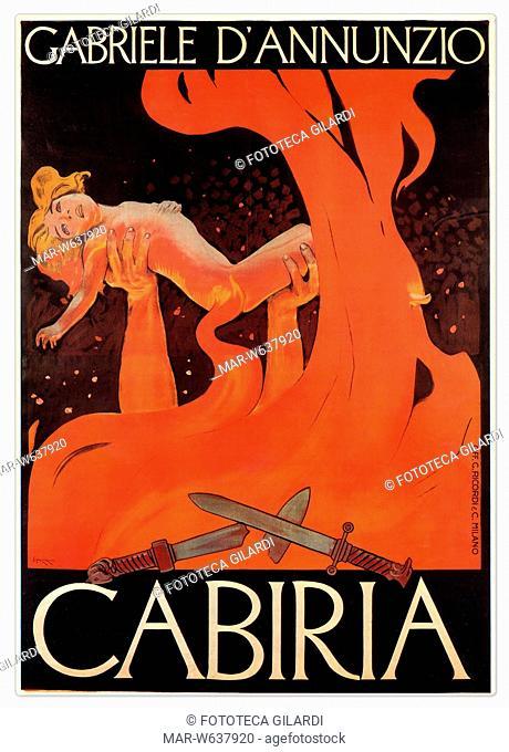 Giovanni PASTRONE (1883-1959) 'Cabiria' diretto dal regista italiano e prodotto da Itala Film. Manifesto di Leopoldo Metlicovitz (1868-1944) per il film...