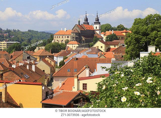 Czech Republic, Trebic, skyline, general view,