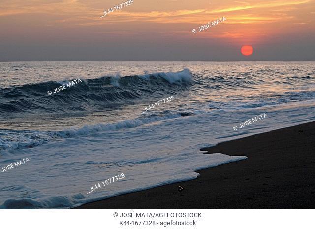 Sunset at a beach in Monterrico, Santa Rosa, Guatemala
