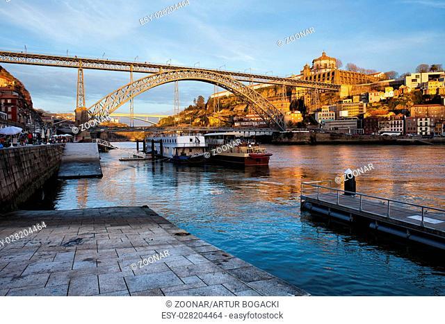 Vila Nova de Gaia and Porto at Sunset