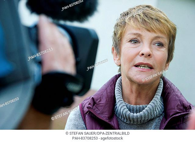 "Actress Katrin Sass as ex-attorney Karin Lossow pictured during a photo call on the set of the new """"Usedom detective show"""" (ARD) with the working title..."