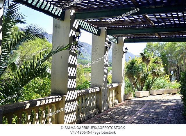 Gardens of Monastery Barraca d'Aigues Vives, Carcaixent, Valencia, Spain